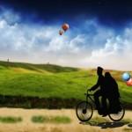 """Pasanganku, mari kita kayuh 'sepeda kehidupan' ini menuju Ridha Allah!"""