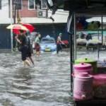 Banjir di salah satu kawasan di Jakarta Pusat pada 21-02-2017
